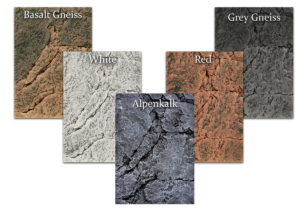 Colours: Basalt Gneis, Grey Gneis, Red, White, Alpenkalk